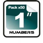"1"" Race Numbers - 50 pack"